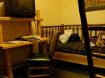 The twin bed in the Kid Cabin Suite