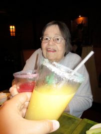 Sharing a margarita with my mama